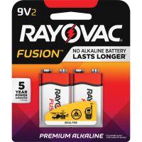 Rayovac Fusion Advanced Alkaline Batteries, 9V, 2/Pack RAYA16042TFUSK