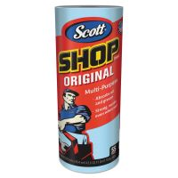 Scott Shop Towels, Standard Roll, 10.4 x 11, Blue, 55/Roll, 12 Rolls/Carton KCC75147