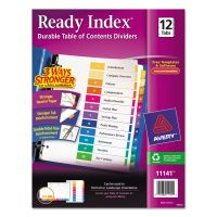 Avery Ready Index Customizable Table of Contents Multicolor Dividers, 12-Tab, Letter AVE11141