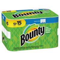 Bounty Select-a-Size Paper Towels, 2-Ply, White, 5.9 x 11, 69 Sheets/Roll, 12 Rolls/PK PGC74850