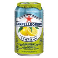 San Pellegrino Sparkling Fruit Beverages, Pompelmo (Grapefruit), 11.15 oz Can, 12/Carton NLE33351