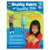 Teacher Created Resources Gr K Healthy Habits Workbook Education Printed/Electronic Book TCR3987