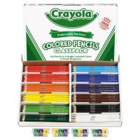 Crayola Colored Woodcase Pencil Classpack, 3.3mm, 20 EA of 12 Ast Colors + 12 Sharpeners CYO688024
