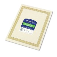 Geographics Parchment Paper Certificates, 8-1/2 x 11, Natural Diplomat Border, 50/Pack GEO21015