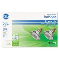 GE Energy-Efficient Halogen 90 Watt PAR38 Floodlight, 2/Pack GEL66282