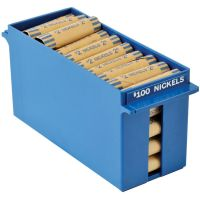 MMF Industries Porta-Count System Extra-Capacity Rolled Coin Plastic Storage Tray, Blue MMF212070508