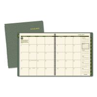 AT-A-GLANCE Recycled Monthly Planner, 9 x 11, Green, 2018-2019 AAG70260G60