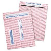 Quality Park Gray/Red Paper Gummed Flap Confidential Interoffice Envelope, 10 x 13, 100/Box QUA63778