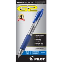 Pilot G2 Premium Retractable Gel Ink Pen, Refillable, Blue Ink, .5mm, Dozen PIL31003