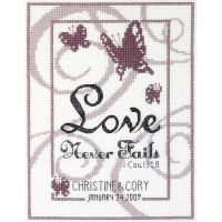 Love Never Fails Counted Cross Stitch Kit NOTM410977