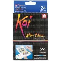 Koi Watercolor Pocket Field Sketch Box - 24 Colors NOTM428821