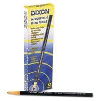 Dixon China Marker, Black, Thin, Dozen DIX00081