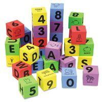 Chenille Kraft WonderFoam Learning Blocks, Assorted, 30 Blocks CKC4416
