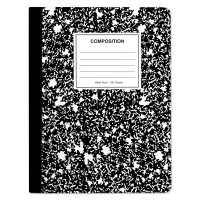 Universal Composition Book, Wide Rule, 9 3/4 x 7 1/2, White, 100 Sheets UNV20930