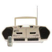 Califone 6W Dual Cassette/CD Via Ergoguys CII2395AV02