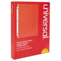 Universal Top Loading Sheet Protector, Letter, Standard Gauge, Clear, 200/Box UNV21122