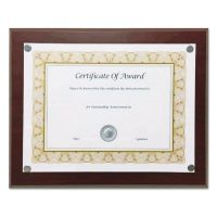 """NuDell Magnetic Series Woodgrain Plaque, Mahogany, 13""""W, Rectangle NUD18868"""