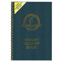 Rediform Money Receipt Book, 7 x 2 3/4, Carbonless Duplicate, Twin Wire, 300 Sets/Book RED8L810