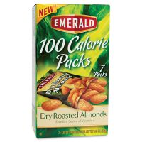 Emerald 100 Calorie Pack Dry Roasted Almonds, .63oz Packs, 7/Box DFD34895