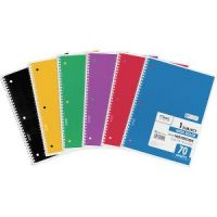 Mead Spiral Bound Notebook, Perforated, Legal Rule, 10 1/2 x 7 1/2, White, 70 Sheets MEA05510