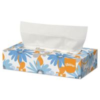 Kleenex White Facial Tissue, 2-Ply, 125/Box, 12/Carton KCC03076