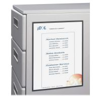 C-Line Magnetic Cubicle Keepers Display Holders, 8 1/2w x 11h, Clear, 2 per Pack CLI37911