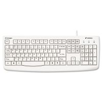 Kensington Pro Fit USB Washable Keyboard, 104 Keys, White KMW64406