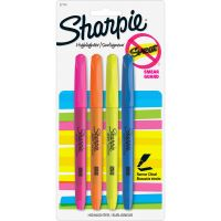 Sharpie Accent Highlighters with Smear Guard SAN27174PP