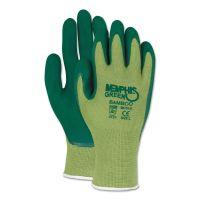 MCR Safety Memphis Glove Green Bamboo Coated Gloves, Large, 1 Dozen CRW96731GL