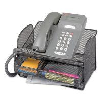 Safco Onyx Angled Mesh Steel Telephone Stand, 11 3/4 x 9 1/4 x 7, Black SAF2160BL