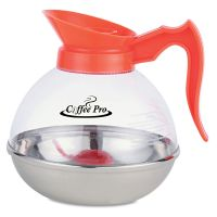 Coffee Pro Unbreakable Decaffeinated Coffee Decanter, 12-Cup, Stainless Steel/Polycarbonate OGFCPU13