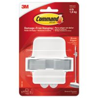 Command Broom Gripper, 3.12w x 2.43d x 3.34h, White/Gray, 1 Gripper & 2 Strips MMM17007ES
