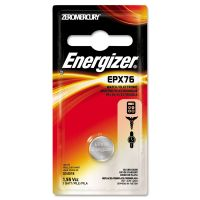 Energizer Watch/Electronic Battery, SilvOx, EPX76, 1.5V, MercFree EVEEPX76BPZ