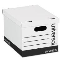 Universal Economy Storage Box, Lift-Off Lid, Letter/Legal. White, 12/Ct UNV95223