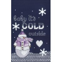 Cold Outside Counted Cross Stitch Kit NOTM052749