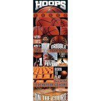 """Real Sport Die-Cut Cardstock Stickers 4.25""""X13"""" NOTM082299"""