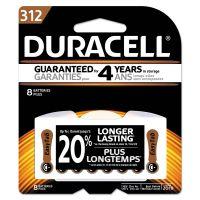 Duracell Button Cell Zinc Air Battery, #312, 8/Pk DURDA312B8ZM09