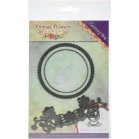 Find It Trading Jeanine's Art Vintage Flowers Die NOTM433551