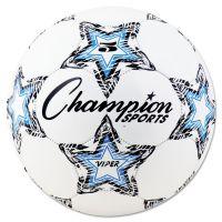 """Champion Sports VIPER Soccer Ball, Size 5, 8 1/2""""- 9"""" dia., White CSIVIPER5"""
