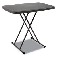 Iceberg IndestrucTables Too 1200 Series Resin Personal Folding Table, 30 x 20, Charcoal ICE65491