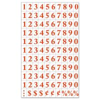 """MasterVision Interchangeable Magnetic Characters, Numbers, Red, 3/4""""h BVCKT2121"""