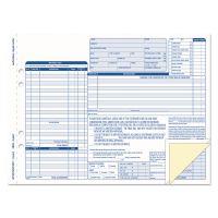 TOPS Auto Repair Four-Part Order Form, 8 1/2 x 11, Four-Part Carbonless, 50 Forms TOP3869