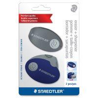 Staedtler Sharpener Case Eraser Set STD525PS2SBK