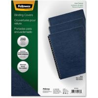 Fellowes Classic Grain Texture Binding System Covers, 11-1/4 x 8-3/4, Navy, 200/Pack FEL52136