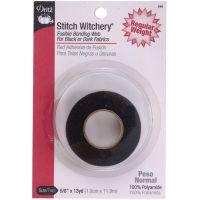 Stitch Witchery Fusible Bonding Web Regular Weight -  Black NOTM103575