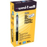uni-ball Signo 207 Retractable Gel Pen, Blue Ink, 0.7mm, Dozen SAN33951