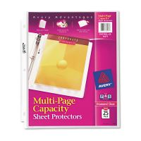 Avery Multi-Page Top-Load Sheet Protectors, Letter, Heavy Gauge, Clear, 25/Pack AVE74171