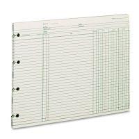 Wilson Jones Accounting, 9-1/4 x 11-7/8, 100 Loose Sheets/Pack WLJGN2D
