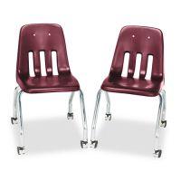 Virco Standard Teacher's Chair, 18-5/8 x 21 x 30, Wine, 2/Carton VIR905050