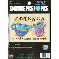 Dimensions Cheaper Than A Shrink Mini Stamped Cross Stitch Kit NOTM278486